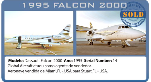 Jato Executivo 1995 Dassault Falcon 2000 vendido por Global Aircraft