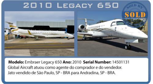 Jato Executivo 2010 Legacy 650 vendido por Global Aircraft
