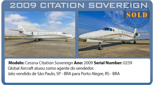 Jato Cessna Sovereign vendido pela Global Aircraft