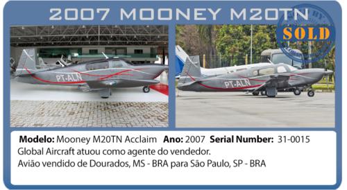 Avião Mooney vendido por Global Aircraft