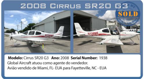 Avião Cirrus SR20G3 vendido por Global Aircraft