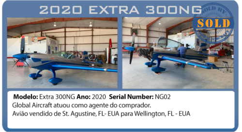 Avião acrobático Extra 300NG vendido por Global Aircraft