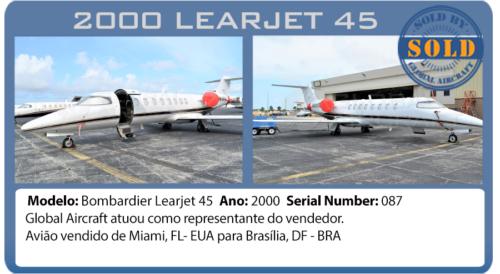 Jato 2000 Bombardier Learjet 45 vendido pela Global Aircraft