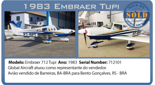 Avião Embraer 712 Tupi vendido por Global Aircraft