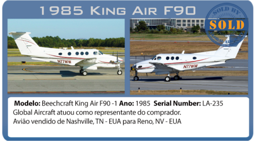 Avião King Air F90-1vendido por Global Aircraft