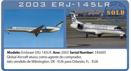 Jato 2003 Embraer 145LR vendido pela Global Aircraft