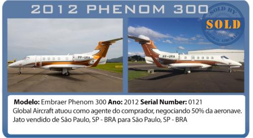 Jato 2012 Phenom 300 vendido pela Global Aircraft