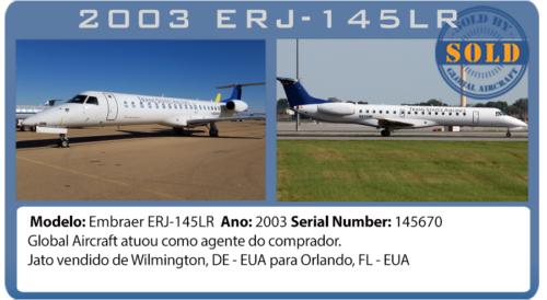 Jato Embraer 145LR vendido pela Global Aircraft