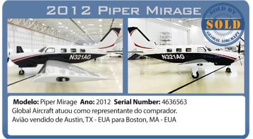 Avião 2012 Piper Meridian vendido pela Global Aircraft
