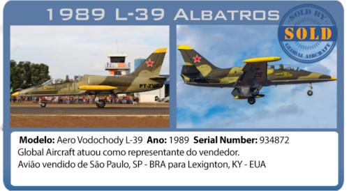 Jato Aerovodochody L39 Albatros vendido pela Global Aircraft