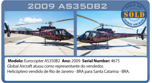 Helicopter 2009 AS350B2 Global Aircraft