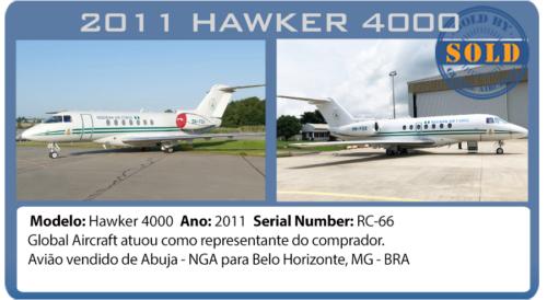 Jato 2011 Hawker 4000 vendido por Global Aircraft
