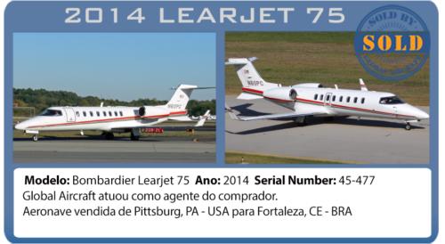 JAto Executivo 2014 Learjet 75 vendido por Global Aircraft