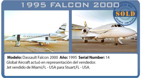 Jet ejecutivo Dassault Falcon 2000 vendido por Global Aircraft