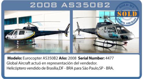 Helicóptero 2008 AS350B2 vendido por Global Aircraft