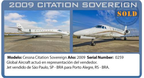 Jet Citation Sovereign vendido por Global Aircraft