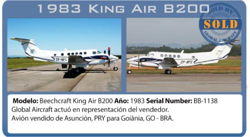 Avión turboprop King Air B200 vendido por Global Aircraft