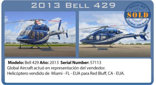 Helicóptero 2013 Bell 429  vendido por Global Aircraft