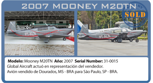 Avión Mooney vendido por Global Aircraft