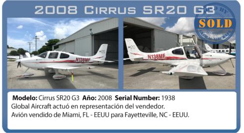 Avión Cirrus SR20G3 vendido por Global Aircraft