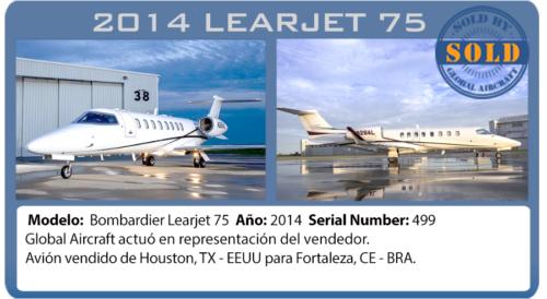 Avión Learjet 75 vendido por Global Aircraft