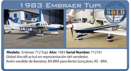 Avión Embraer 712 Tupi vendido por Global Aircraft