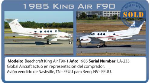 Avión King Air F90 vendido por Global Aircraft