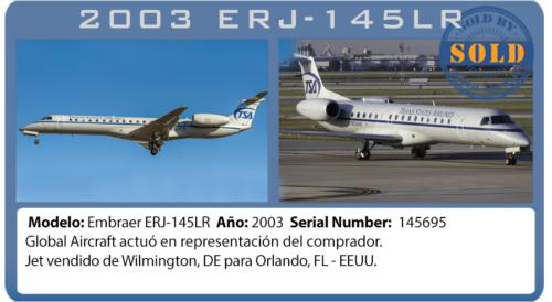 2003 Embraer 145LR Jet vendido por Global Aircraft