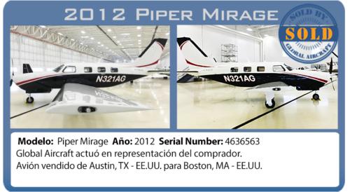 Avion 2012 Piper Meridian vendido pela Global Aircraft