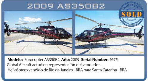 Helicoptero 2009 AS350b2 vendido por global Aircraft