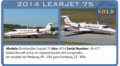 Jet Ejecutivo 2014 Learjet 75 vendido por Global Aircraft