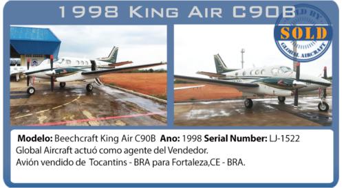 Avión Turboprop 1998 King Air C90B Vendido por Global Aircraft