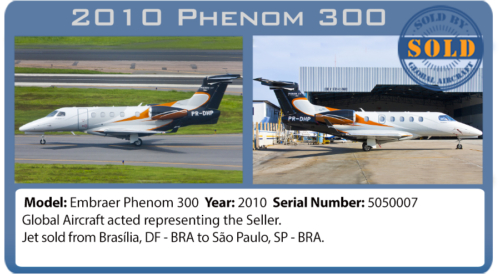 Jet 2010 Phenom 300 sold by Global Aircraft