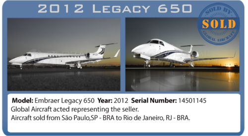 Executive Jet 2011 Legacy 650 sold by Global Aircraft