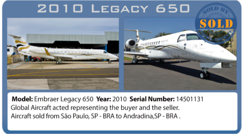 Executive Jet 2010 Legacy 650 sold by Global Aircraft