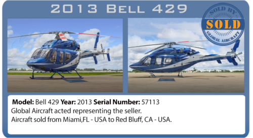 Helicopter Bell 429 sold by Global Aircraft