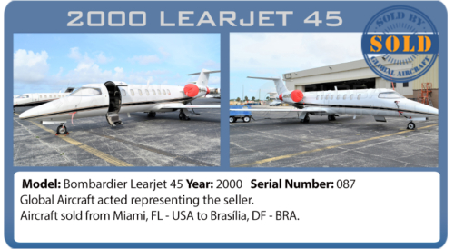 Jet Learjet 45 sold by Global Aircraft