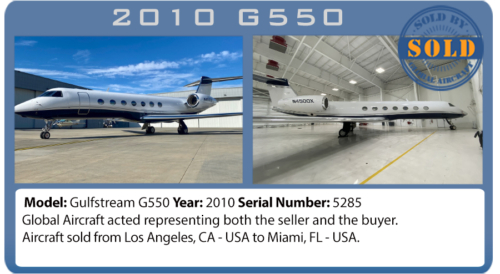 Jet 2010 Gulfstream G550 sold by Global Aircraft