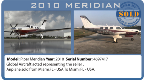 Airplane 2010 Piper Meridian sold by Global Aircraft