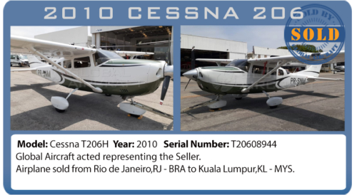 Airplane 2010 Cessna 206 sold by Global Aircraft