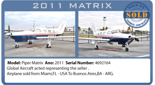 Airplane 2011 Piper Matrix sold by Global Aircraft