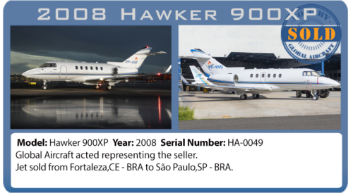Jet 2008 Hawker 900XP sold by Global Aircraft