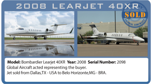 Jet 2008 Learjet 40XR sold by Global Aircraft