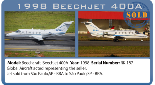 Jet 1998 Beechcraft 400A  sold by Global Aircraft