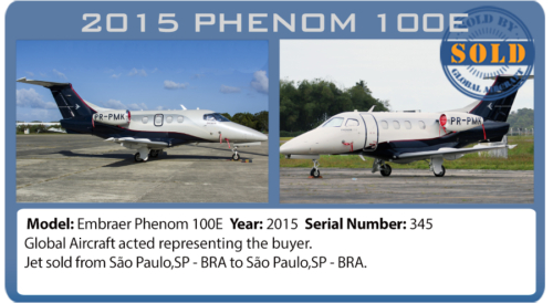 Jet 2015 Phenom 100E sold by Global Aircraft