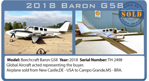 Airplane 2018 Baron G58 sold by Global Aircraft