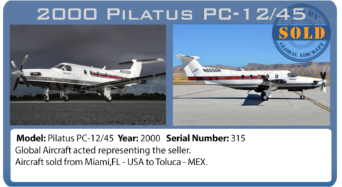 Airplane Pilatus PC-12/45 sold by Global Aircraft