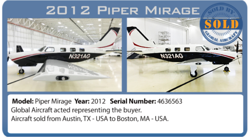 Airplane Piper Mirage sold by Global Aircraft