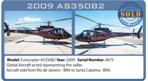 Helicopter 2009 AS350B2 sold by Global Aircraft