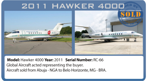 Jet Hawker 4000 sold by Global Aircraft